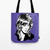 randy c Tote Bags featuring Randy Rhoads by Laura Meg