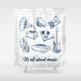 It's all about music Shower Curtain
