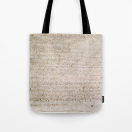 The Magna Carta 0f 1215 Tote Bag