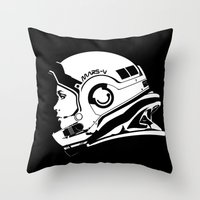 astronaut Throw Pillows featuring Astronaut by Sventine