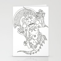 devil Stationery Cards featuring Devil by MissingPieceTattoo
