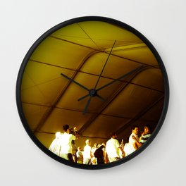 Golden Glimmer Wall Clock