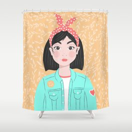 Denim Girl Shower Curtain