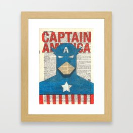 Book Page Captain Framed Art Print