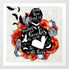 Picture of Dorian Grey - Too Fond of Reading Art Print