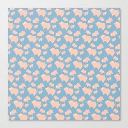 Paper Pigs (Patterns Please) Canvas Print