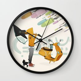 Spring Bullets Wall Clock