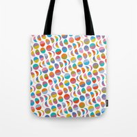 moon phases Tote Bags featuring Moon phases by Helene Michau