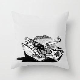 Wet boy - Emilie Record Throw Pillow