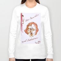 mozart Long Sleeve T-shirts featuring Mozart & Salieri by MENAGU'