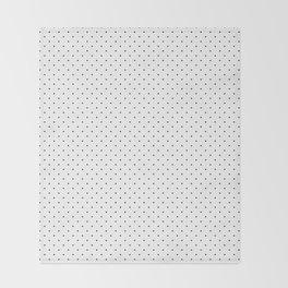 Minimal Black Polka Dots Throw Blanket