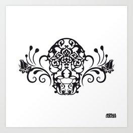 SKULL FLOWER 04 Art Print