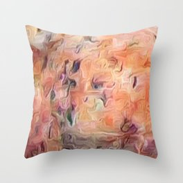 Desert Peach Abstract Throw Pillow