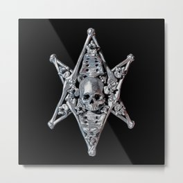 Skeleton Bone Thelema Metal Print