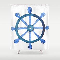 Navigating the seas Shower Curtain