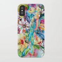 parrot iPhone & iPod Cases featuring PARROT by RIZA PEKER