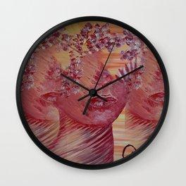 Women Nature by Lu Wall Clock