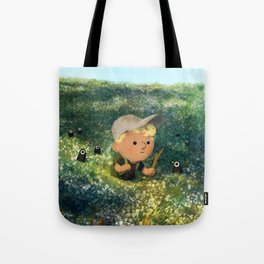 Flowery Fields Tote Bag