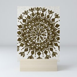 Glitter Gold Mandala Mini Art Print