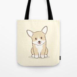 Eli the Corgi Illustration Tote Bag