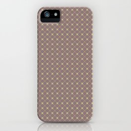 Earthy Green on Grape Vine Purple Parable to 2020 Color of the Year Back to Nature Polka Dot Grid iPhone Case