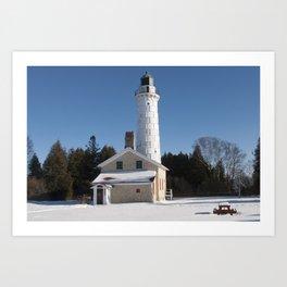 Canna Island Lighthouse - Winter Art Print