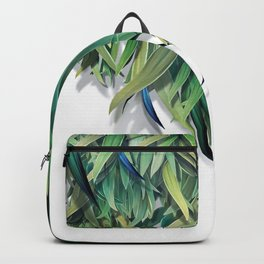 """Spring Forest of Surreal Leaf"" Backpack"