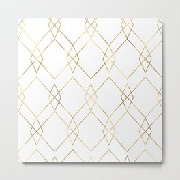 Gold Geometric Metal Print