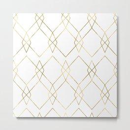 Gold Geometric Metal Print