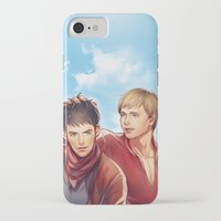 merlin iPhone & iPod Cases featuring Merlin by Drag Me To Work