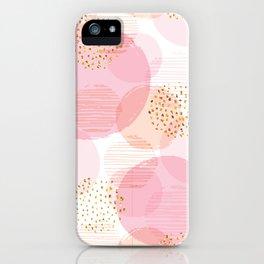 Pink Circles iPhone Case