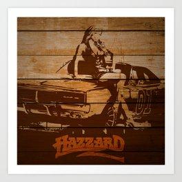 Hazzard Wood Art Print