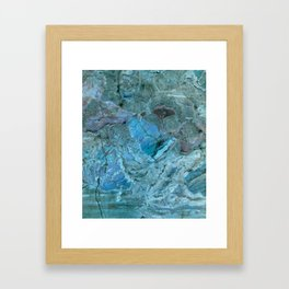 Oceania Teal & Blue Marble Framed Art Print