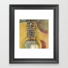 Acoustic Guitar - Taylor Framed Art Print