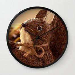 Penita and the pinecone Wall Clock