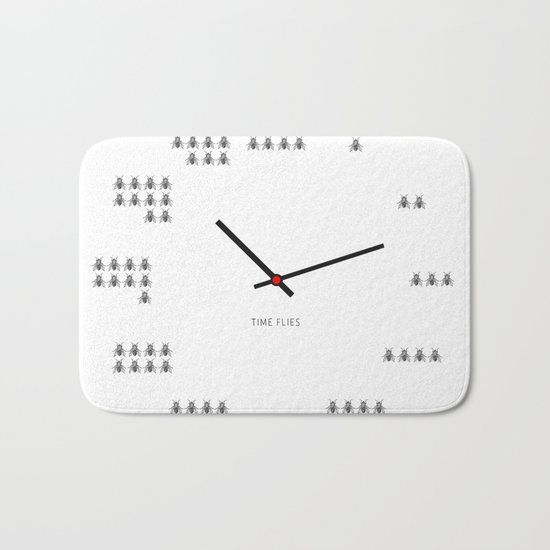 Time Flies Bath Mat