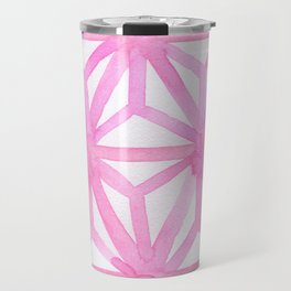 Pink Asanoha Travel Mug