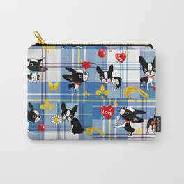 Mirabelle the boston Blue tartan Carry-All Pouch