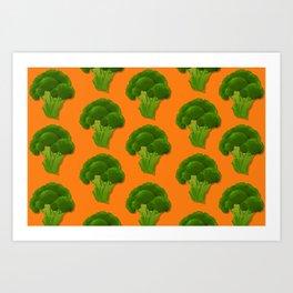 FOREVER Broccoli Art Print