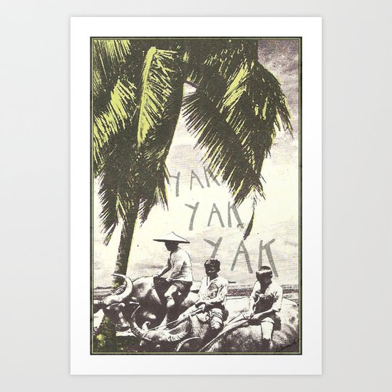 Yakity Art Print