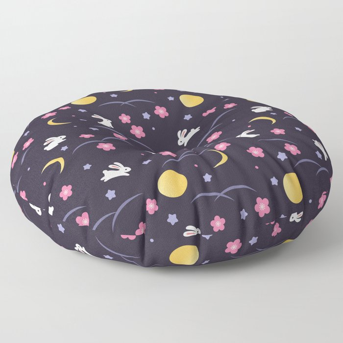 Moon Rabbits V2 Floor Pillow