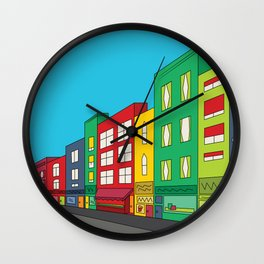 Single Shopping Street Wall Clock