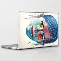 emma watson Laptop & iPad Skins featuring Emma Watson by Stella Joy