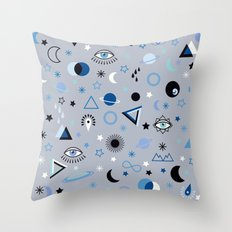 blue universe Throw Pillow