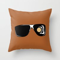 terminator Throw Pillows featuring Terminator by FilmsQuiz