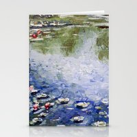 monet Stationery Cards featuring Missing Monet by Olya Krasavina