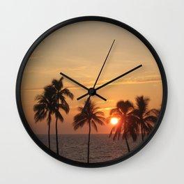 Sunset at Mauna Kea Beach Wall Clock
