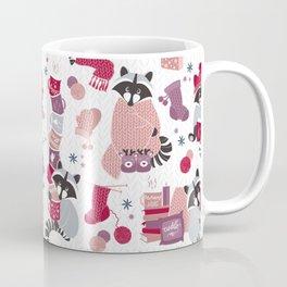 Hygge raccoon // white background Coffee Mug