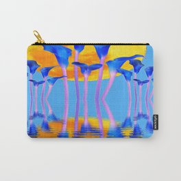 BLUE CALLA LILIES & MOON WATER GARDEN  REFLECTION Carry-All Pouch