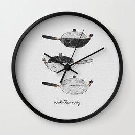 Wok This Way Wall Clock